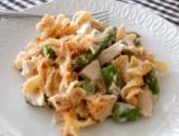 Creamy Chicken And Asparagus Noodle Casserole